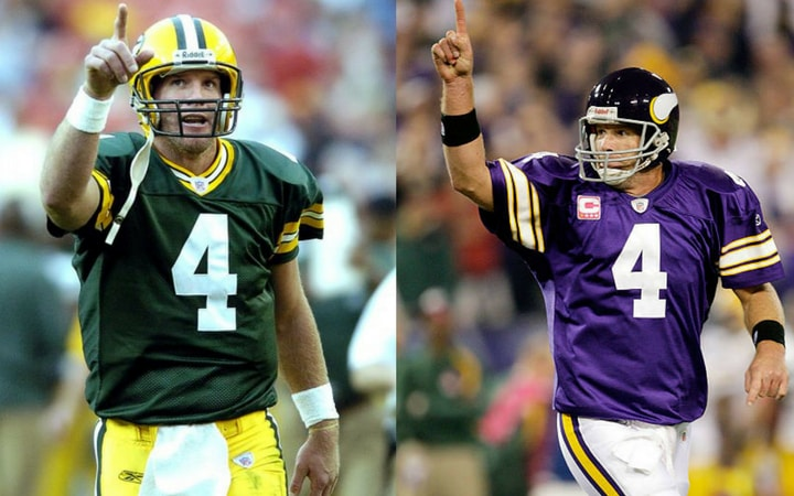 shocking sports trades brett favre packers vikings