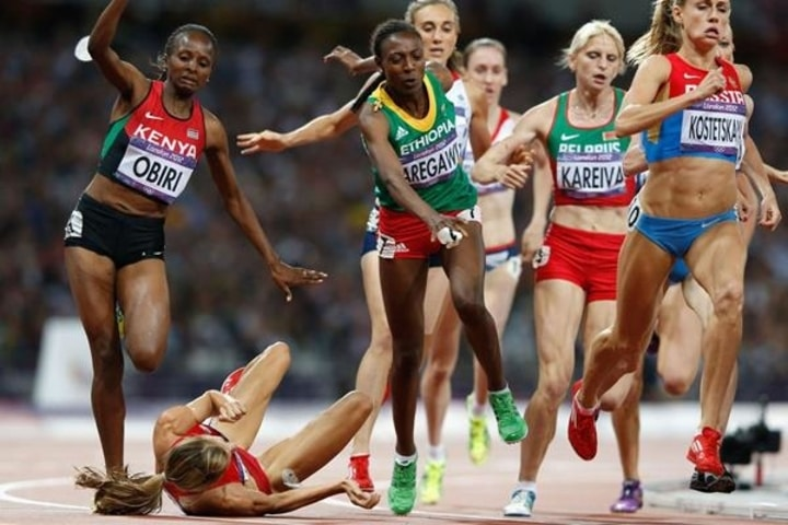 sports fails Olympic track and field