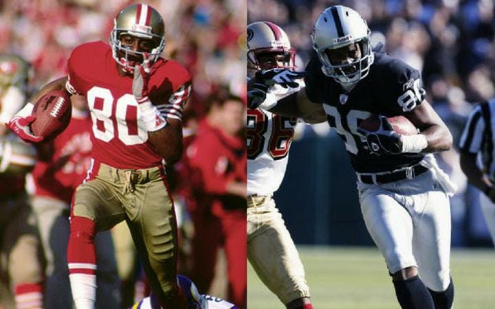 jerry rice shocking football trade 49ers raiders