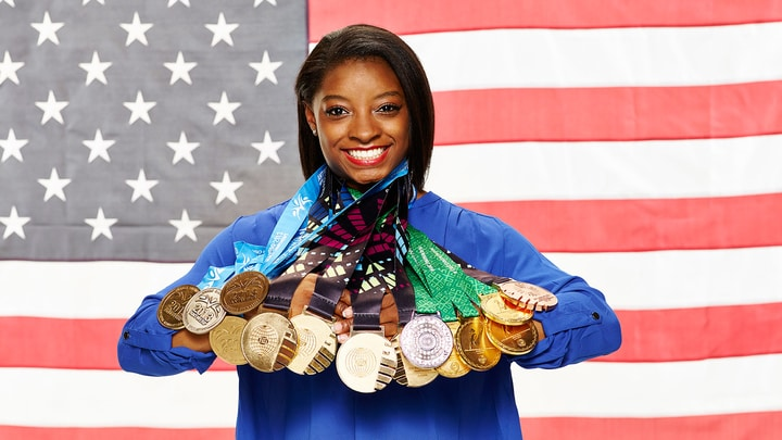 female athlete simone biles gymnastics